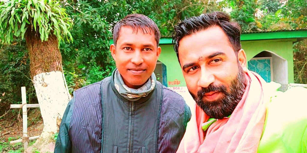 With Bablu from Diphlu River Lodge in Kaziranga National Park