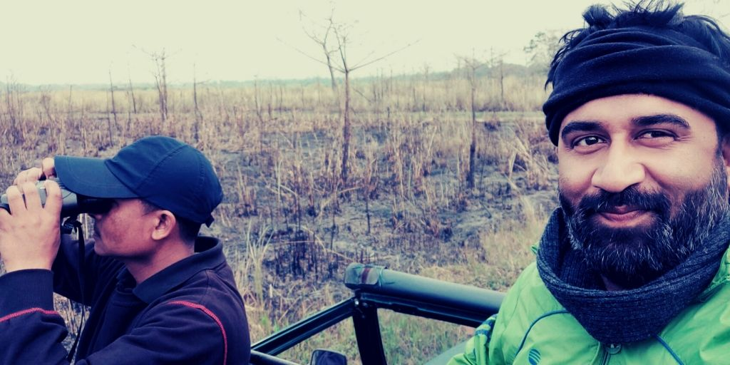 With Bhaikon Koch, a seasoned wildlife spotter from Diphlu River Lodge