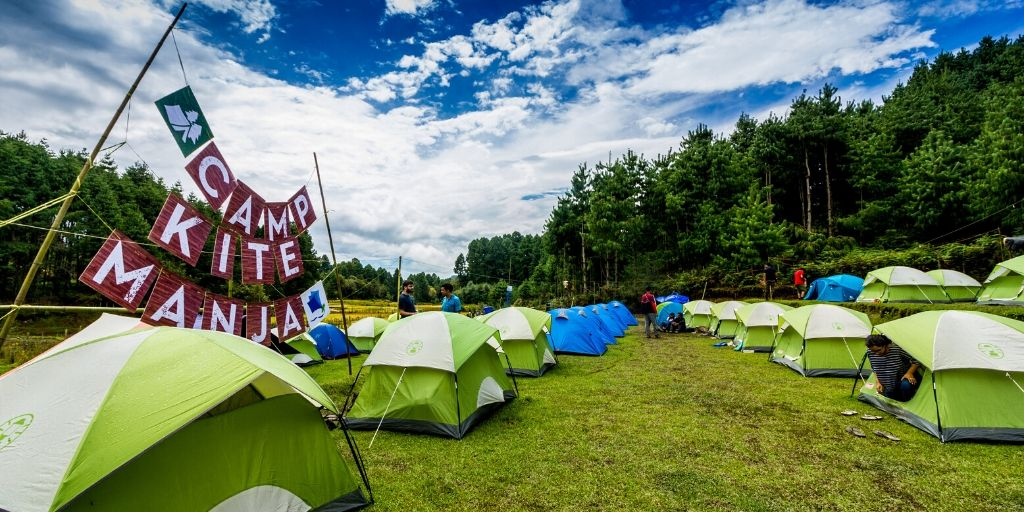 A camping unit  set up at the Ziro Music Festival  by Camp Kite Manja