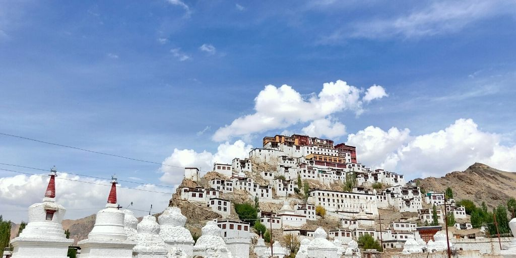 Thiksey Monastery in Ladakh h is a very interesting piece of architecture