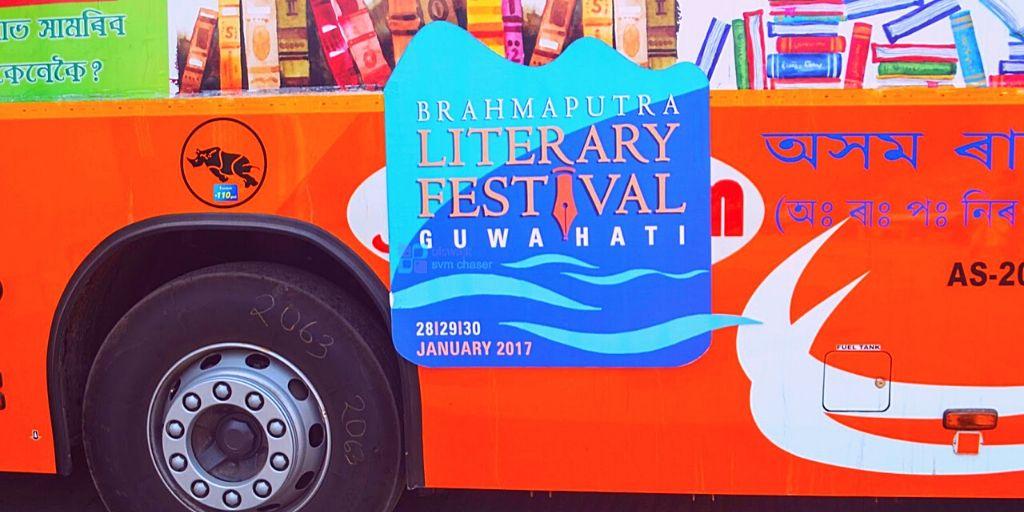 A Bus advertisement of Brahmaputra Literary Festival in Guwahati