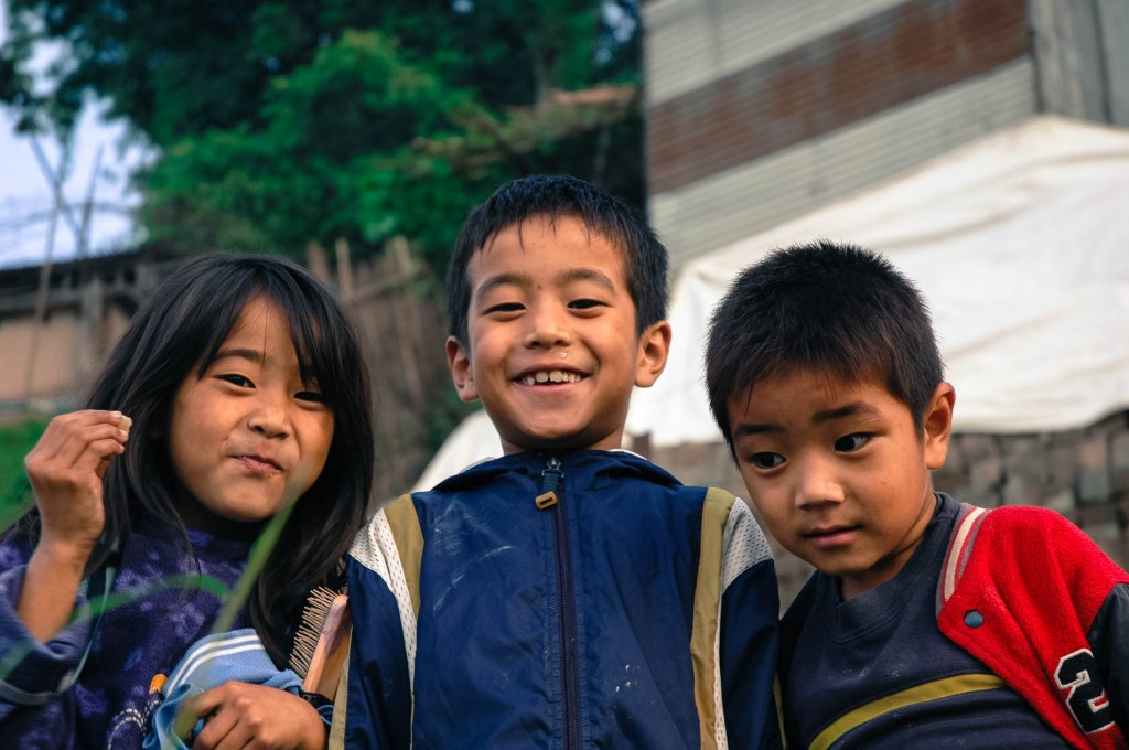 Happy kids on a sunday in Kohima