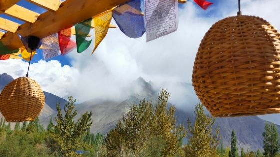 A view of the mountains in Nubra Valley