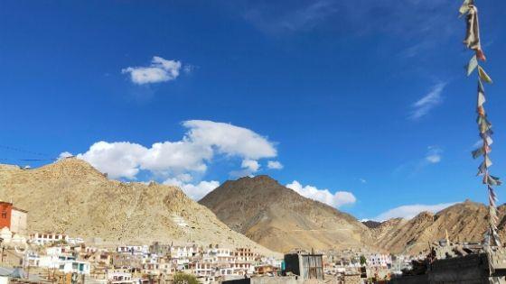 A Panaromic View of Saboo Village near Leh