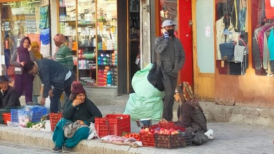 A local Market in Leh