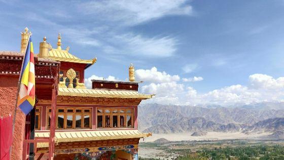The monastary of Likir in Ladakh