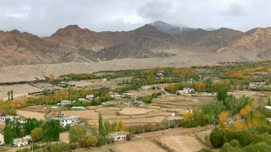 A View of Leh Valley on the way to Nubra
