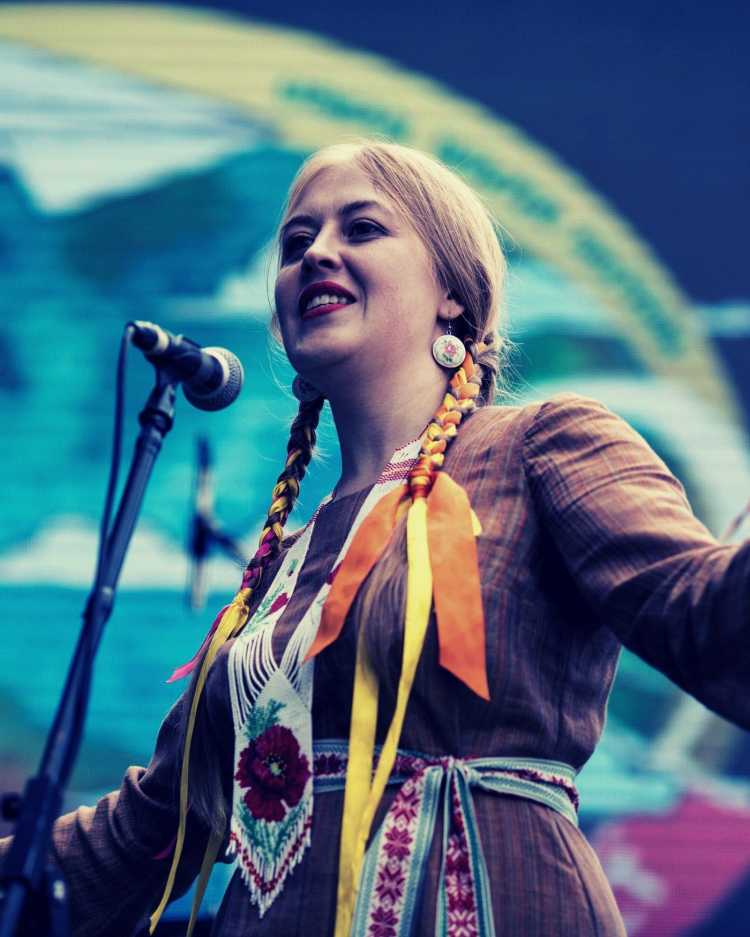 Foreign artist at the Metropolis Asia Festival in Shillong