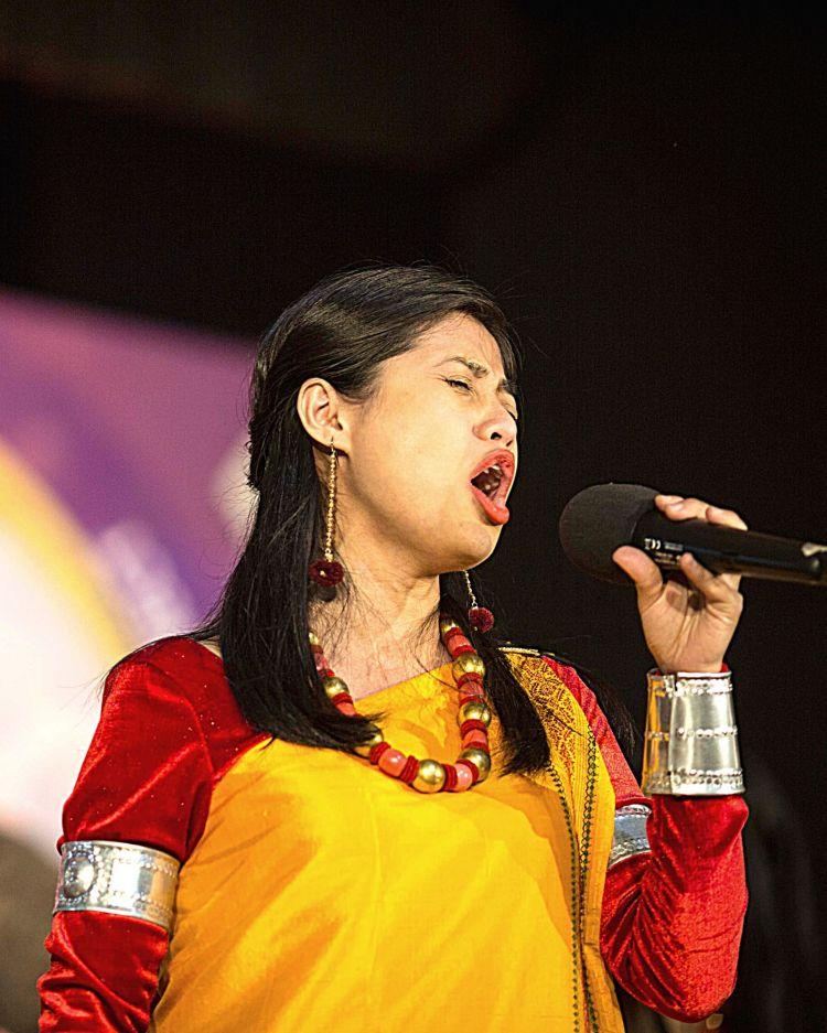 Local artist at the Metropolis Asia Festival in Shillong