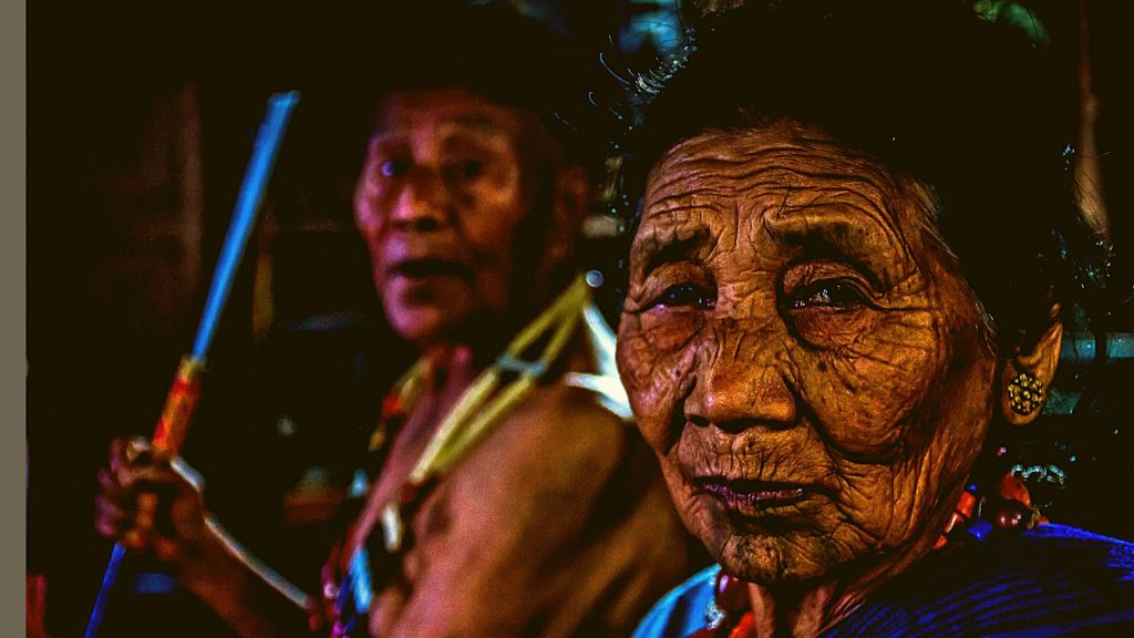 An old Ao Couple in Longkhum Village
