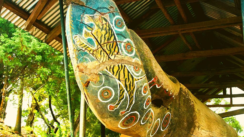 The log drum is  called the 'Sungkong' in Ao language