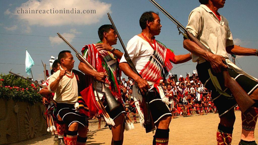 A local Naga Dance in Nagaland