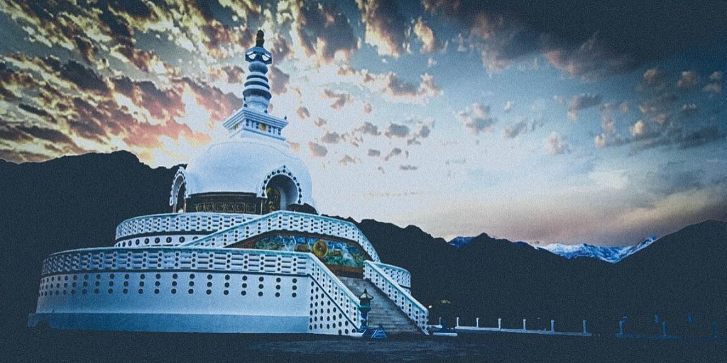 Shanti Stupa is best visited in the afternoon and probably the day before you fly out of Leh