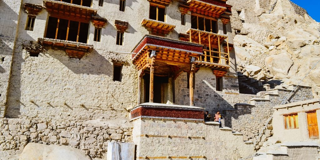 Shey Palace and monastery is at an altitude of 11204 feet