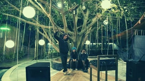A musical stage at the Giving Tree