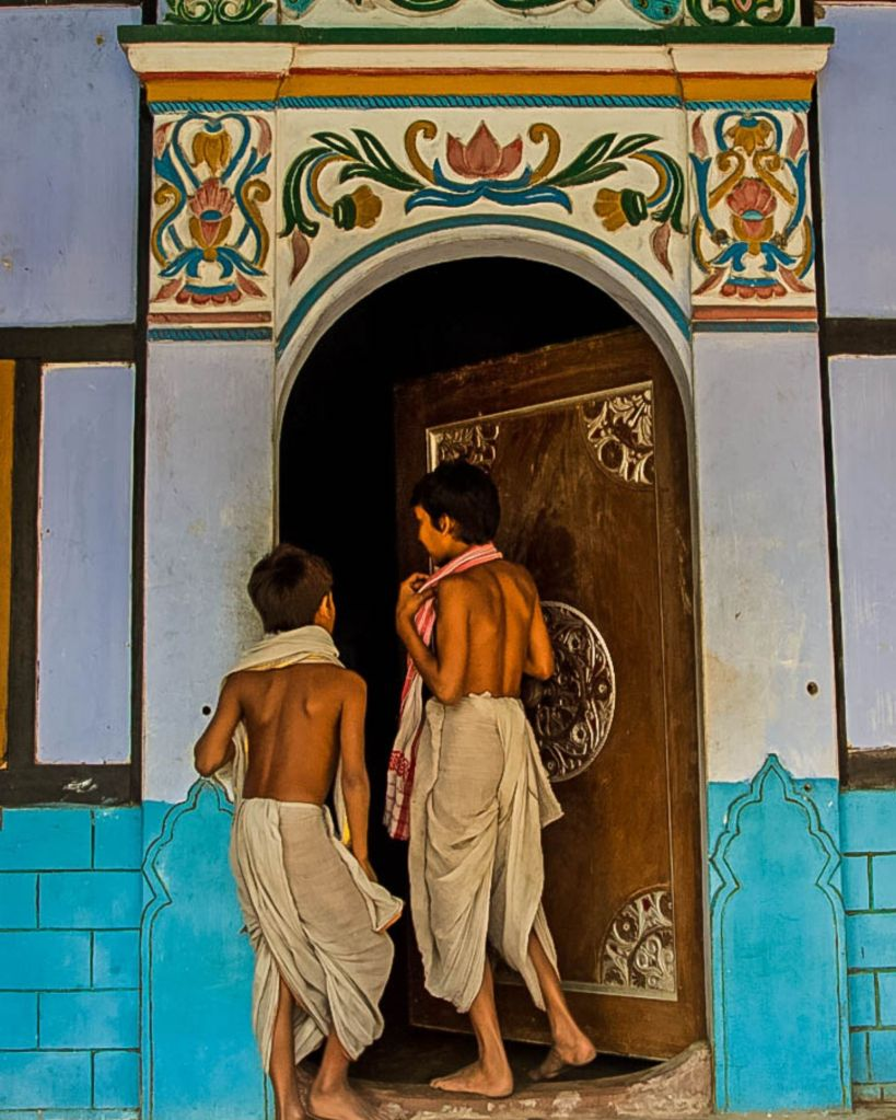Young Monks at the monastery in Majuli river island