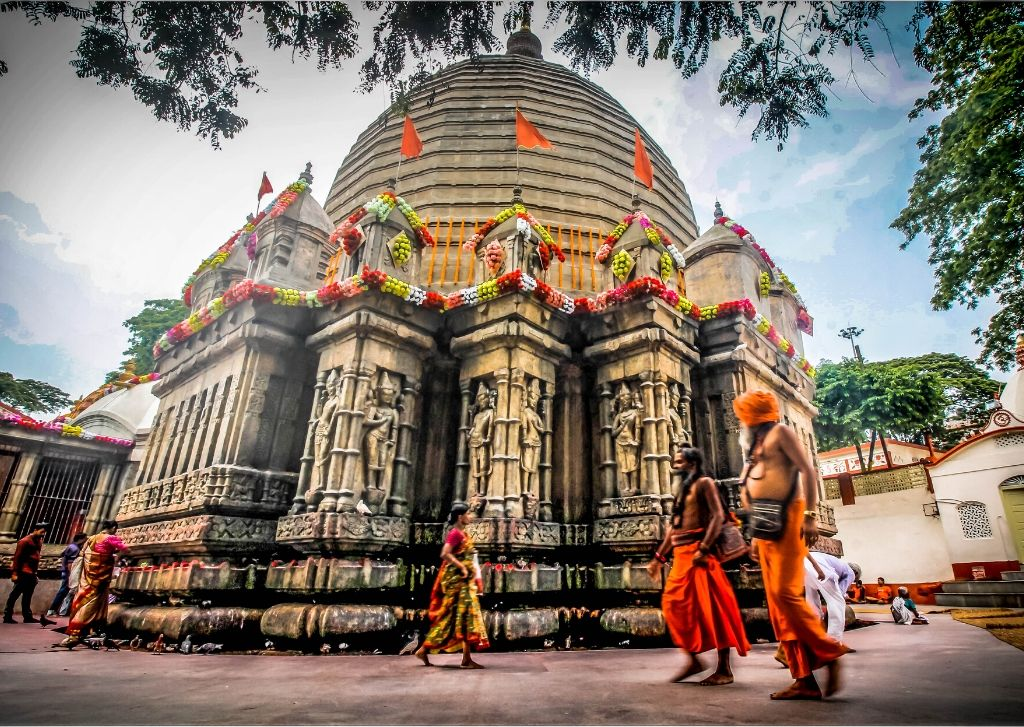 Kamakhya temple is 21 km from Guwahati Airport and public transport is readily available.