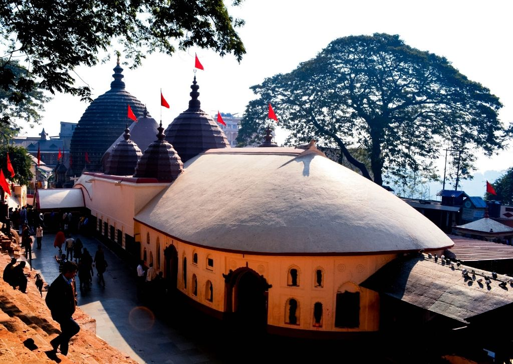 The Kamakhya Temple on Nilachal hills in Guwahati