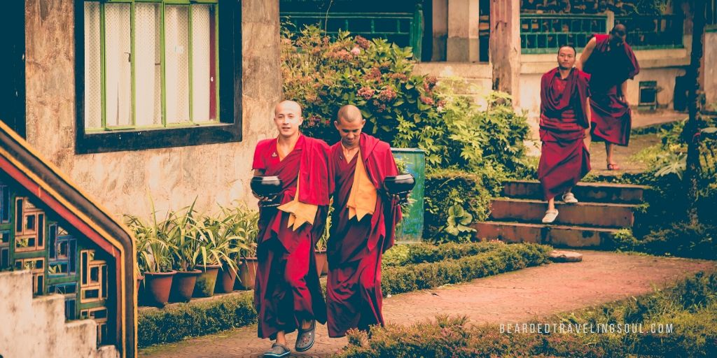 Monks in a monastery in Sikkim   l  Photograph @ sauro pucci