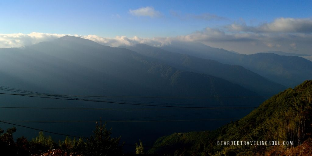 Morning view of the snow-capped mountains in Zuluk, Sikkim  l  Photograph @ Abhranil Neogi