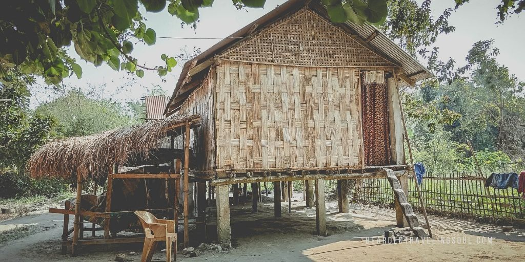 A mishing tribal Hut in Majuli River Island