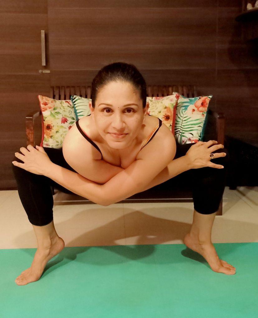 Upama Borkar in a Yoga Pose