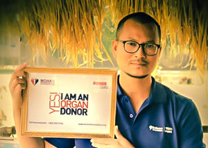 Dipmoina Dowarah a pledged organ donor