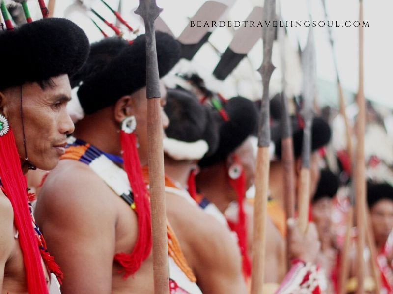 A scene from the annual Hornbill Festival which happens in Kohima every December