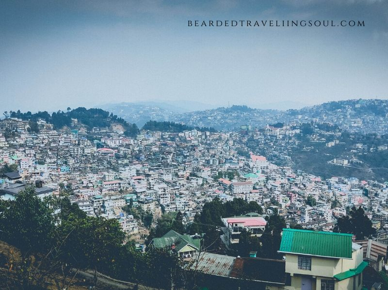 A view of Kohima Town from Aradura hills